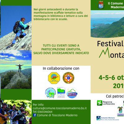 4-5-6 OTTOBRE FESTIVAL DELLA MONTAGNA al Rifugio Pirlo, al Passo Spino e sul Pizzocolo