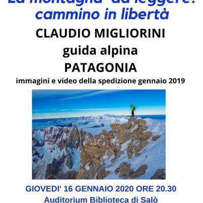 Giovedi' 16 gennaio, la sezione CAI di Salò presenta la serata con Claudio Migliorini