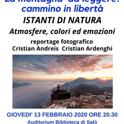 Giovedì 13 febbraio la sezione CAI di Salò presenta la serata con Cristian Andreis e Cristian Ardenghi